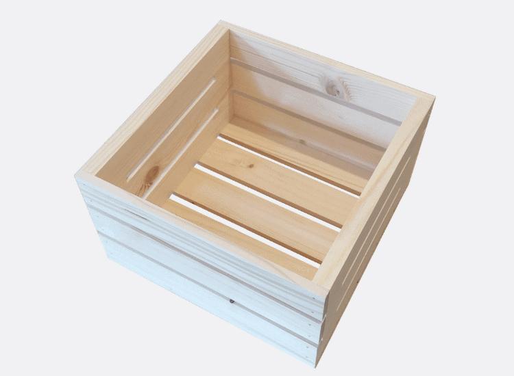 Dřevěná bedýnka 30 x 30 x 18 cm (Adriana)