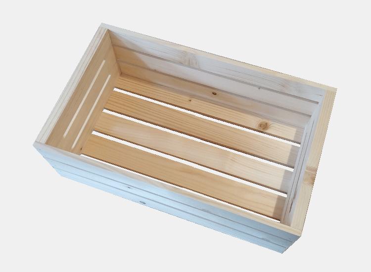 Dřevěná bedýnka 50 x 30 x 18 cm (Eva)