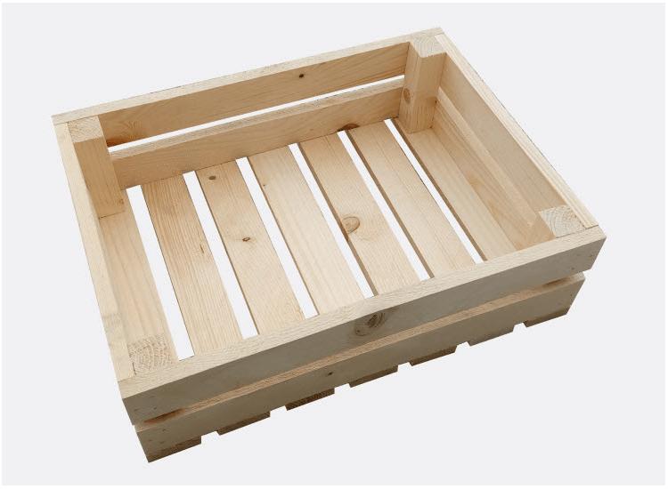 Dřevěná bedýnka 44 x 33 x 13 cm (Klára)