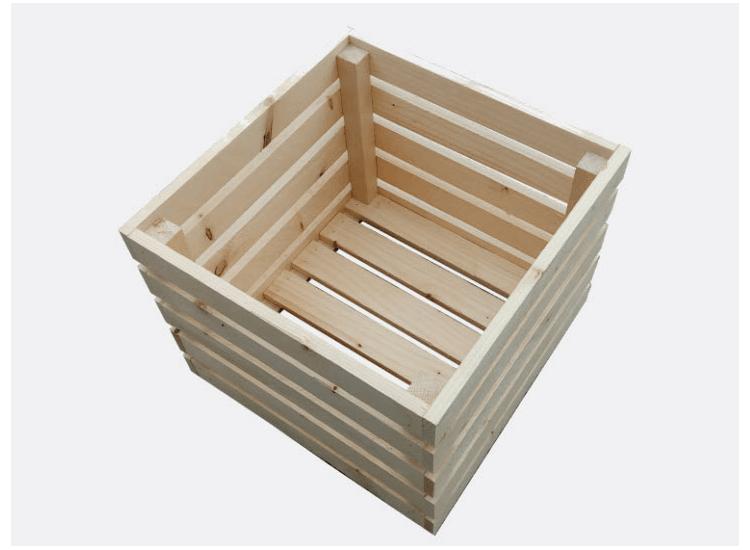 Dřevěná bedýnka 40 x 40 x 33 cm (Lucie)