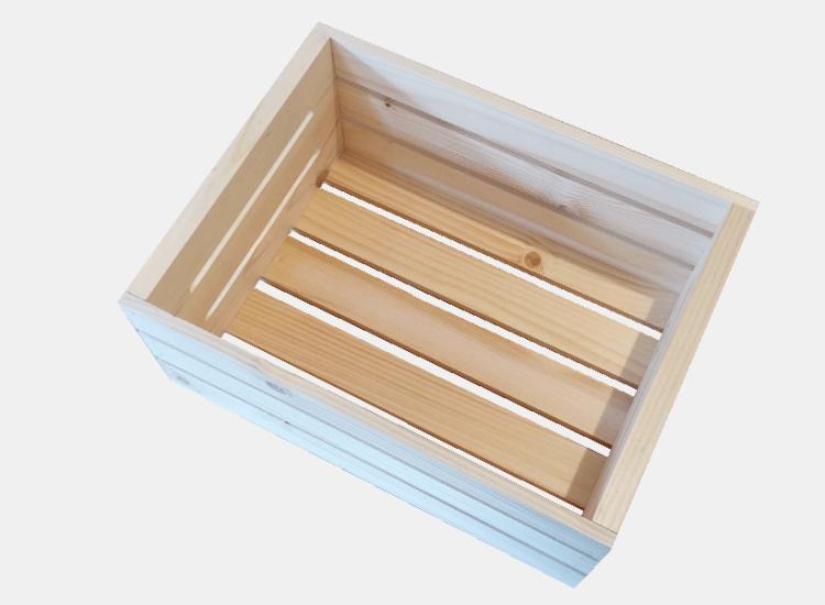 Dřevěná bedýnka 40 x 30 x 18 cm (Marie)