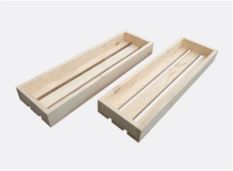 Dřevěná bedýnka 60 x 18 x 6,5 cm - 2ks (Veronika)