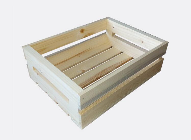 Dřevěná bedýnka 40 x 30 x 13 cm (Tereza)