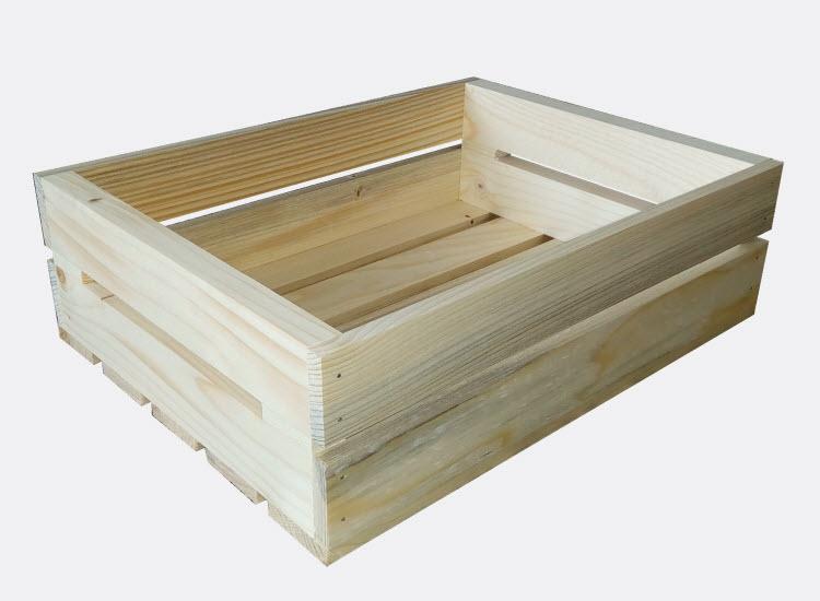 Dřevěná bedýnka 40 x 30 x 12 cm (Zuzana)