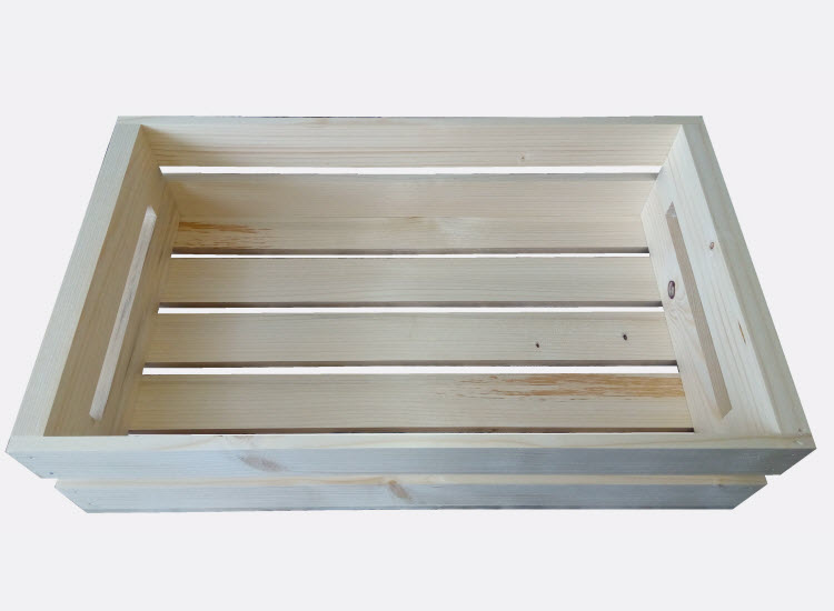 Dřevěná bedýnka 50 x 30 x 13 cm (Vendula)